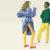 【めくり上がったスカート】 (女性)Boutetのブラウスとシャツ、Simonsのタイツ、Salvatore Ferragamoの靴。 (男性)Andrew Coimbraのタートルネック、Bossのトラウザー、Kenzoのジャケット、Uniqloのソックス、Adidasの靴